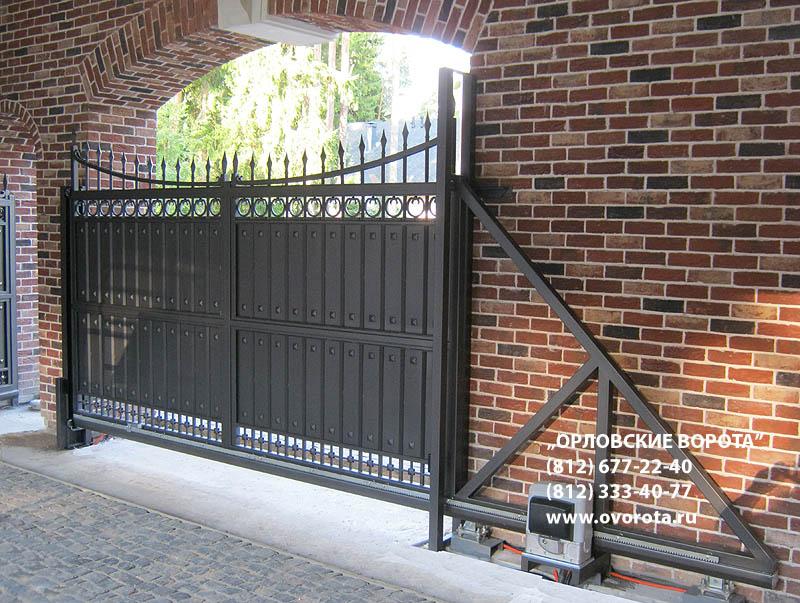 Въездные автоматические ворота для предприятий